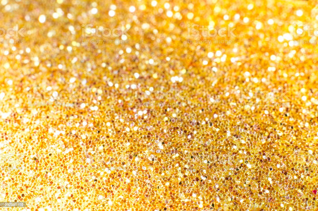 Gold defocused Christmas festival glitter background with copy s stock photo