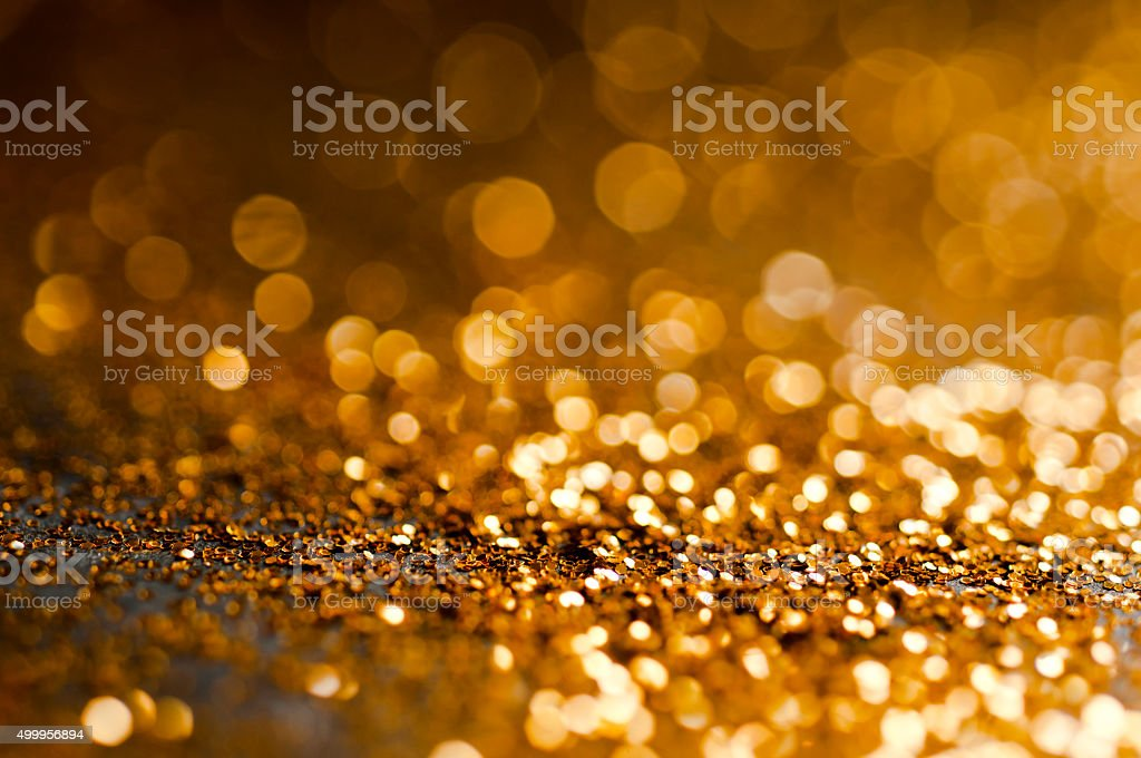 Gold Defocused Glitter Background stock photo