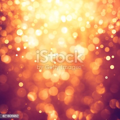 621592540 istock photo Gold defocused lights and sparkles background 621605652