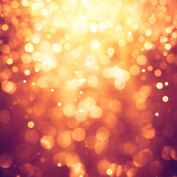 Gold defocused lights and sparkles background – Foto