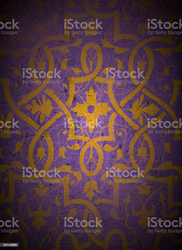 Gold Design on Wood royalty-free stock photo