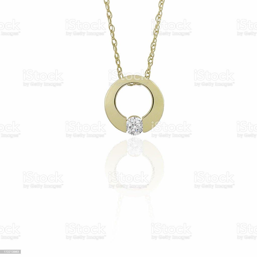 Gold & Diamond Pendant stock photo