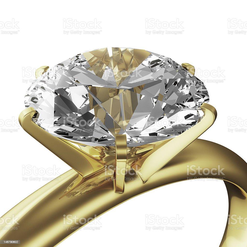 Gold diamond ring royalty-free stock photo