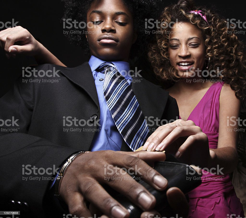 Gold Digger stock photo