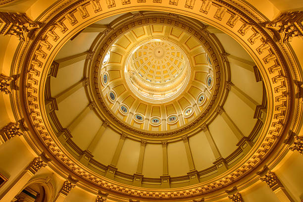 gold dome - colorado state capitol stock photos and pictures