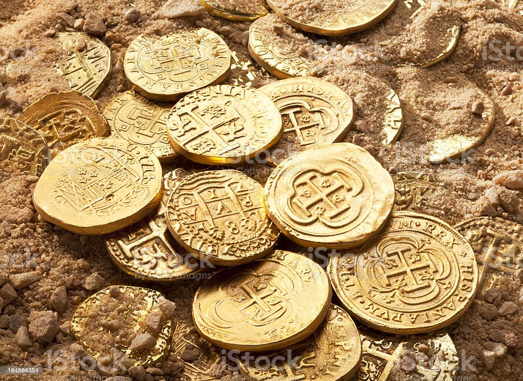 Gold Doubloons Stock Photo - Download Image Now - iStock