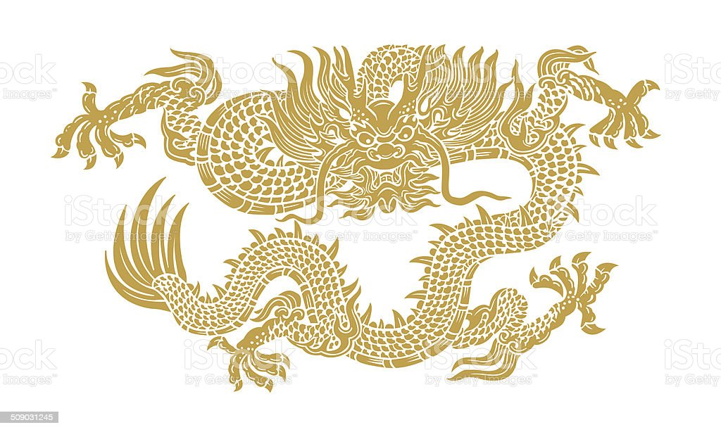 ancient chinese gold dragon