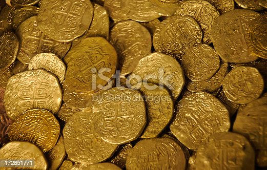 istock Gold Dubloons 172851771
