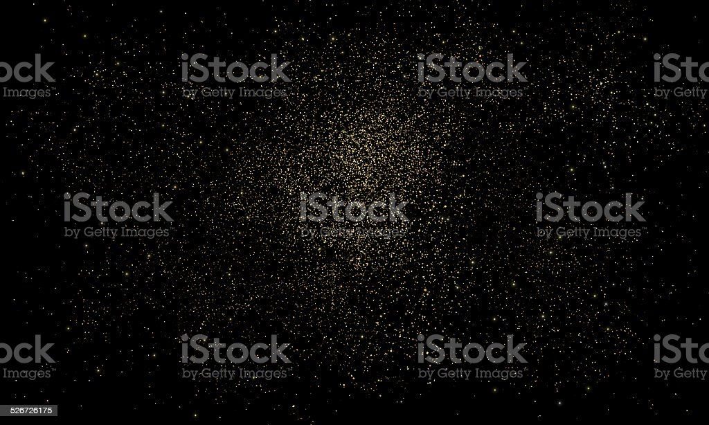 Gold dust stock photo