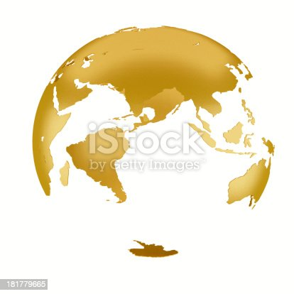 istock 3D gold Earth Structure styled 181779665