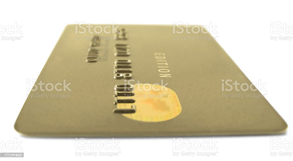 Gold Edition Credit Card royalty-free stock photo