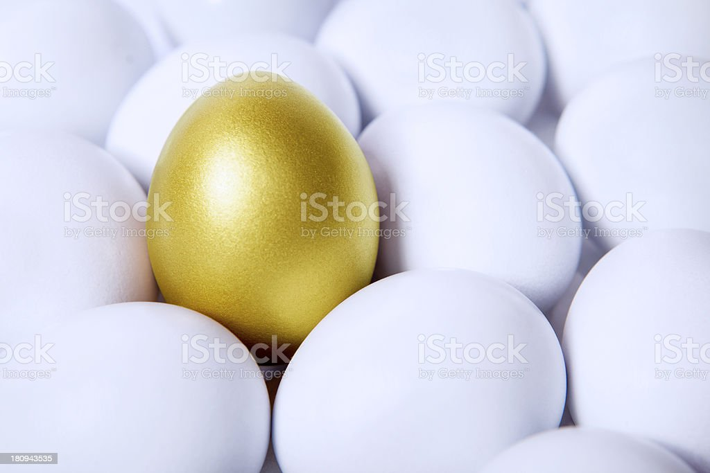 Gold egg in crowds royalty-free stock photo