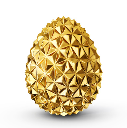 gold egg isolated on a white background