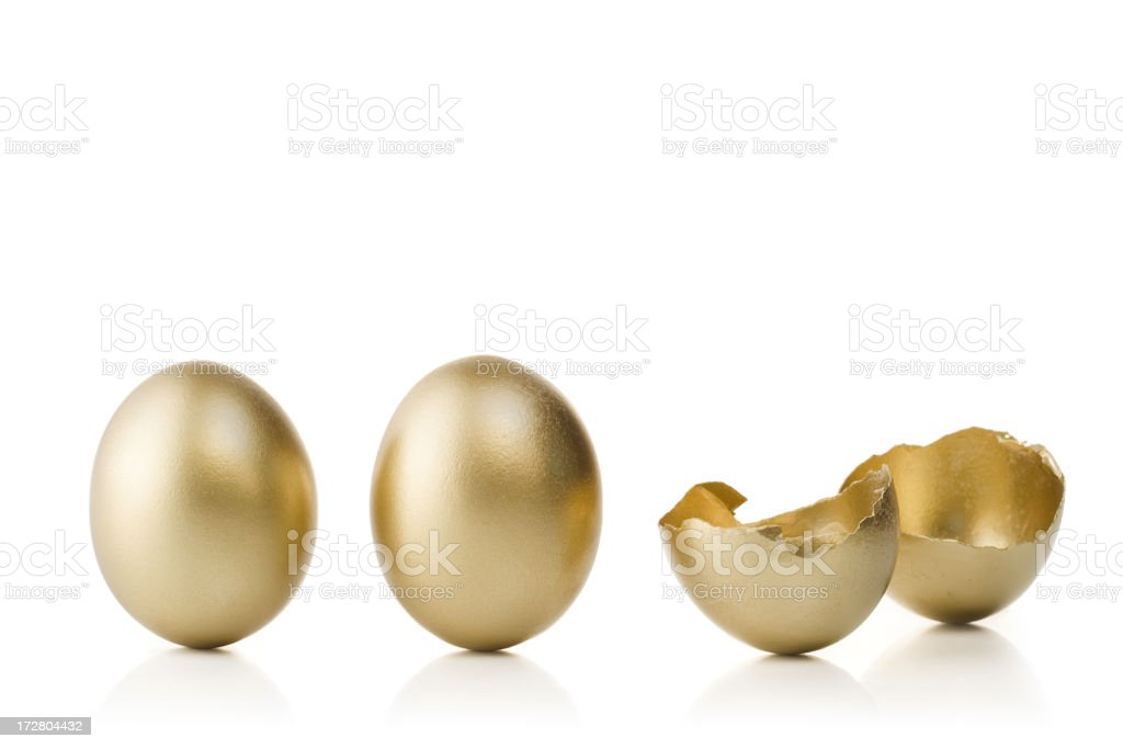 Gold Eggs royalty-free stock photo