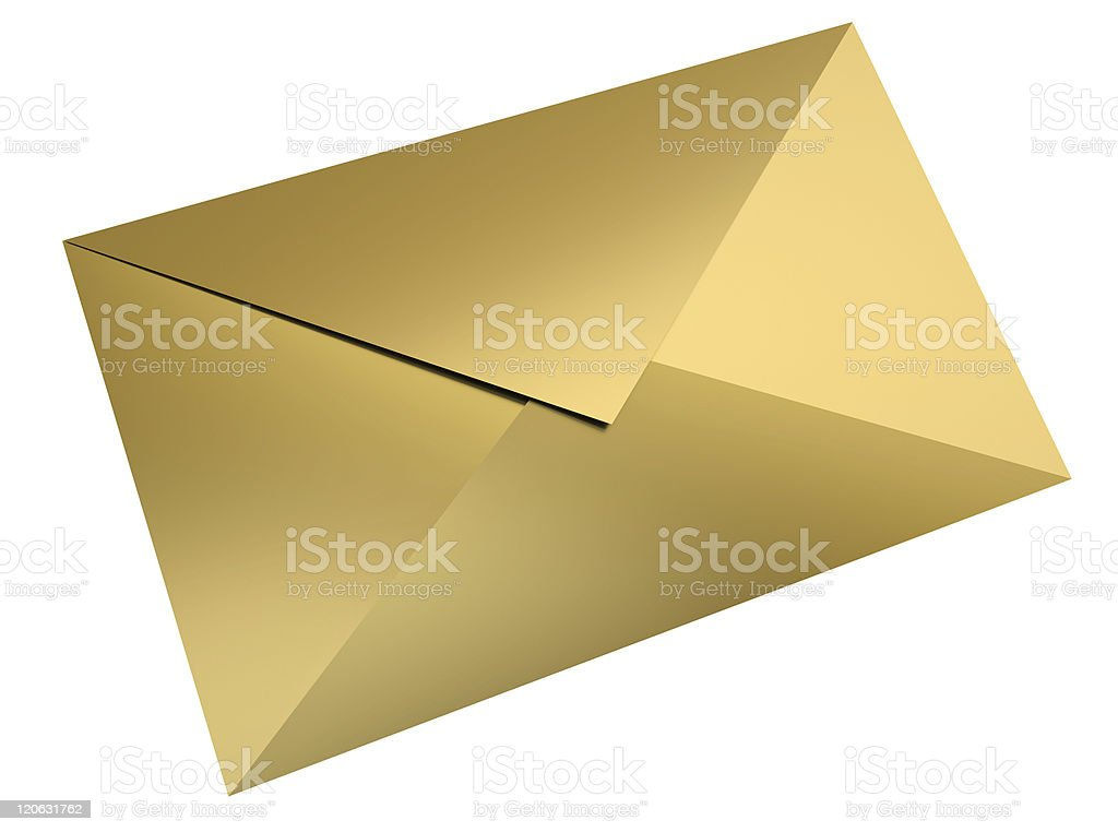 Gold-Briefumschlag – Foto