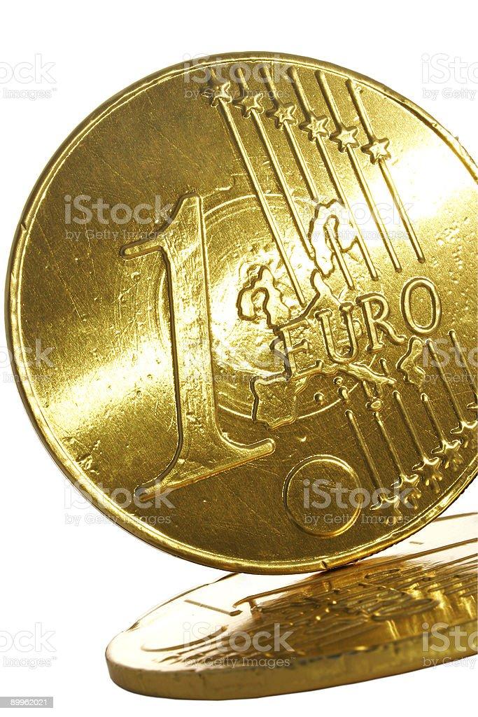 Gold Euro Coin royalty-free stock photo