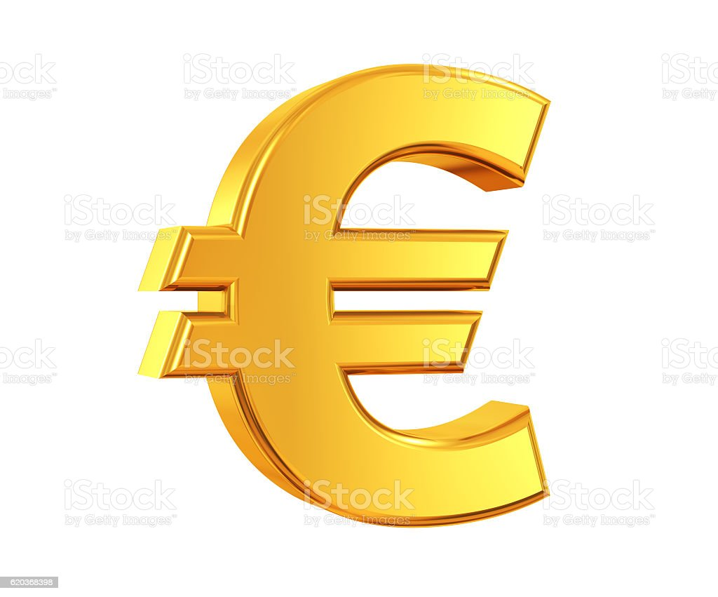 Gold Euro Symbol stock photo