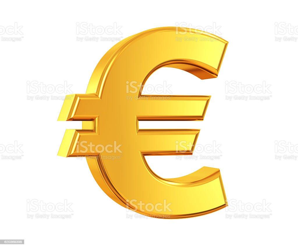 Or Symbole de l'Euro - Photo