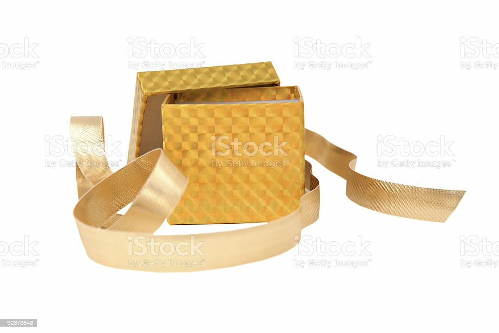 Gold Fancy Box royalty-free stock photo