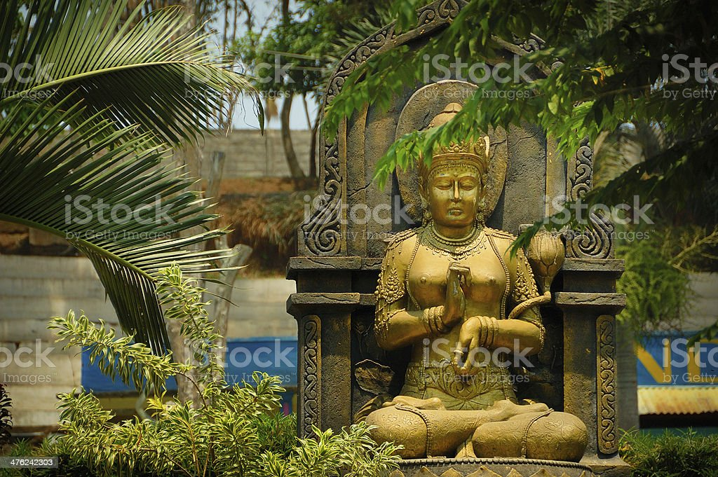 Gold female figure statue royalty-free stock photo