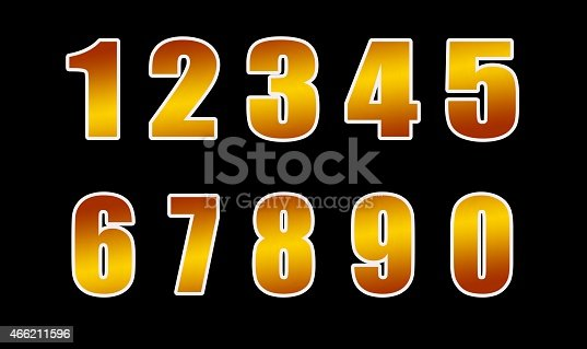 istock gold figures, isolated on a black background 466211596