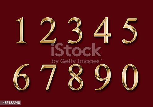 istock gold figures, isolated on a red background 467132246