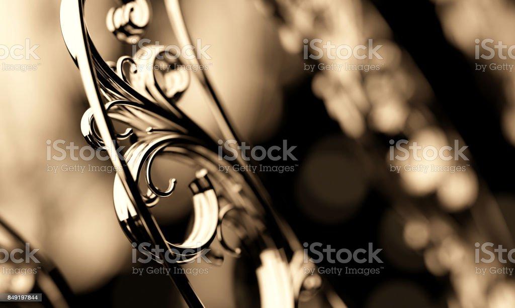 Gold Filigree Ornament stock photo