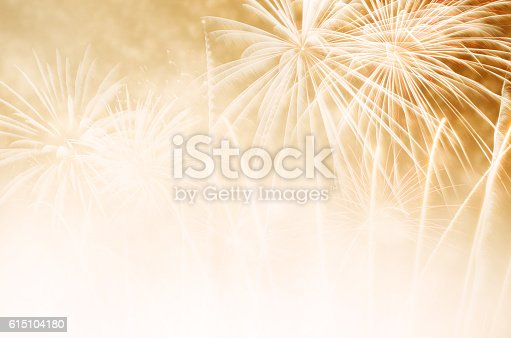 636207118 istock photo Gold fireworks at New Year 615104180