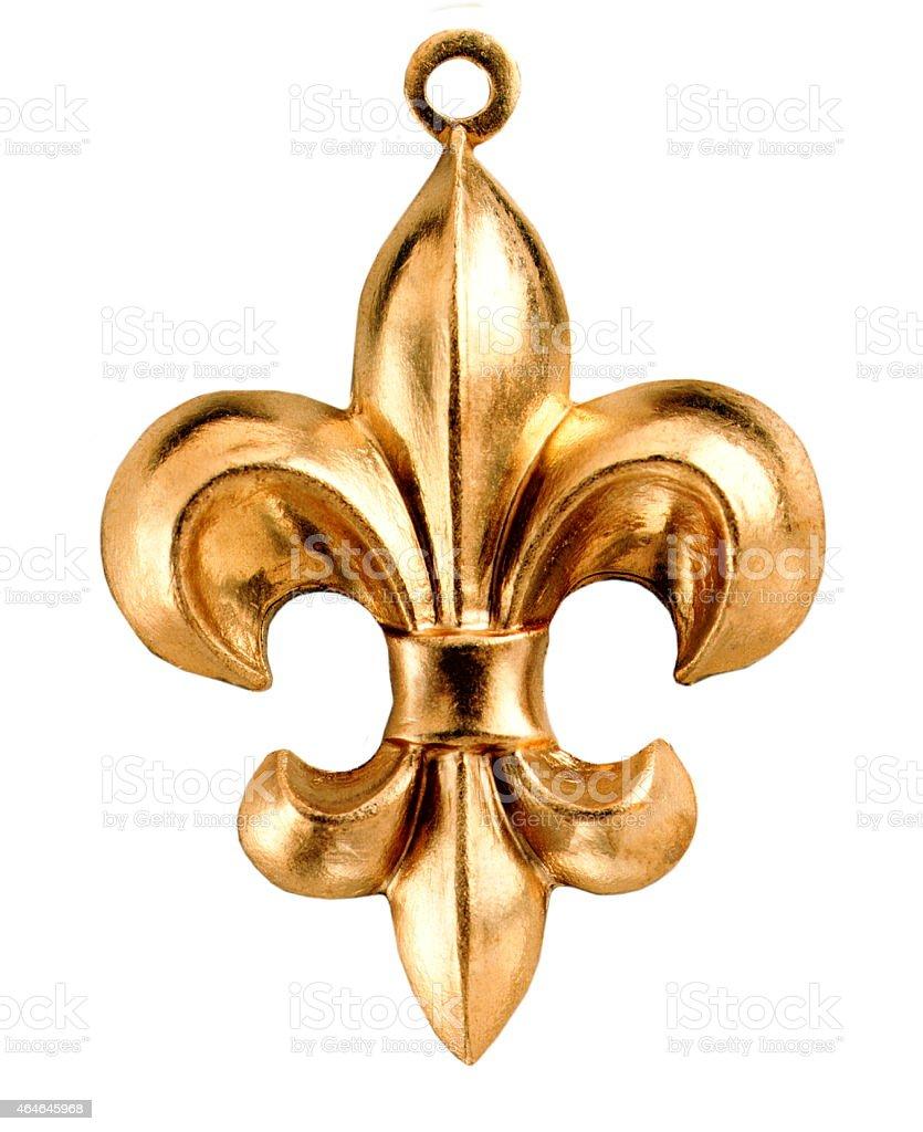 Gold Fleur de Lis stock photo