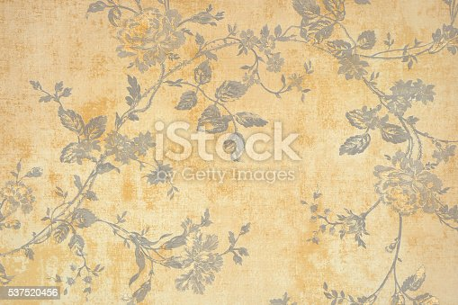 istock Gold Floral Pattern 537520456