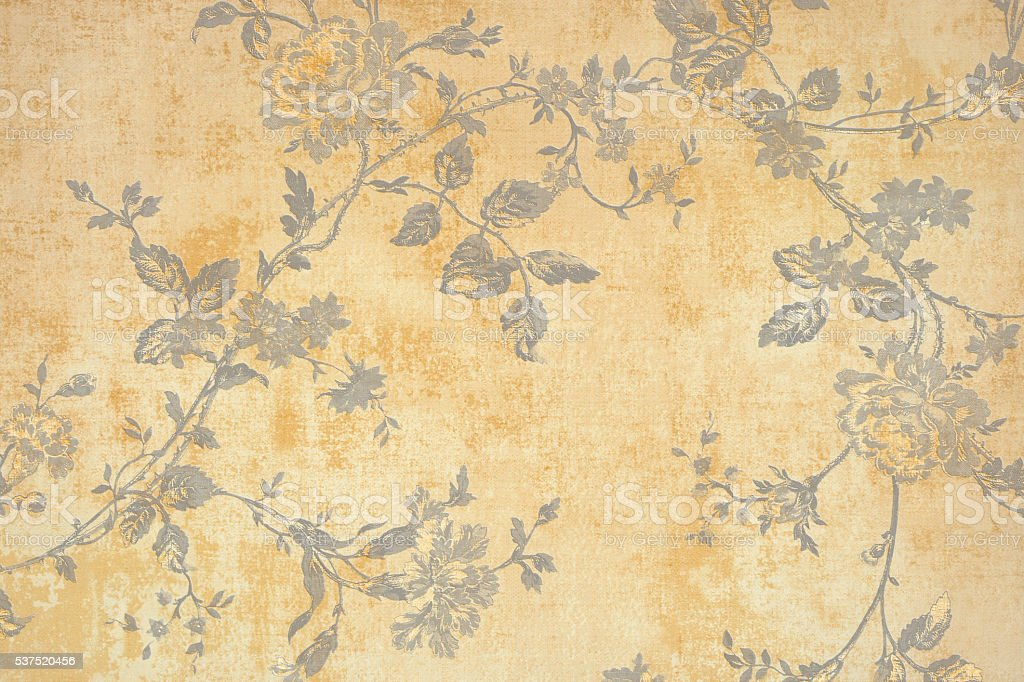 Gold Floral Pattern stock photo