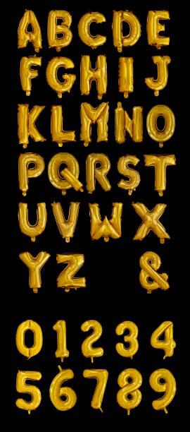 金箔氣球字母 - ruth 個照片及圖片檔