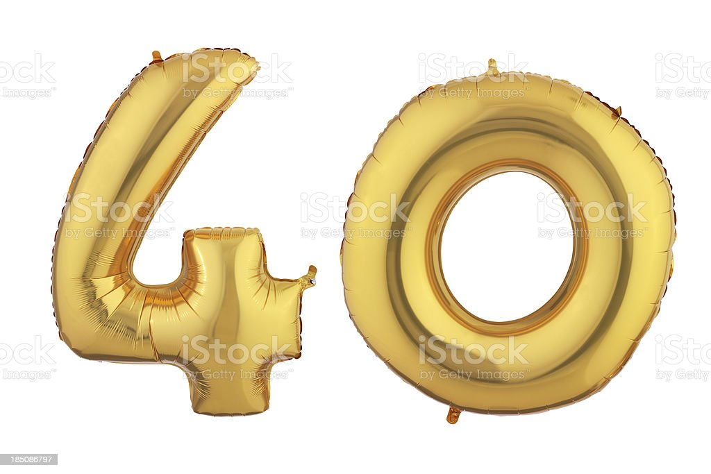 Gold Forty balloon – Foto