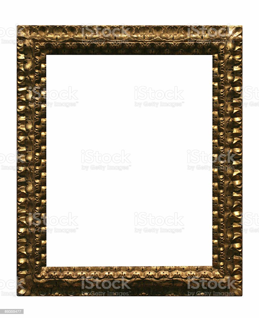 Gold frame to use in your design royalty free stockfoto