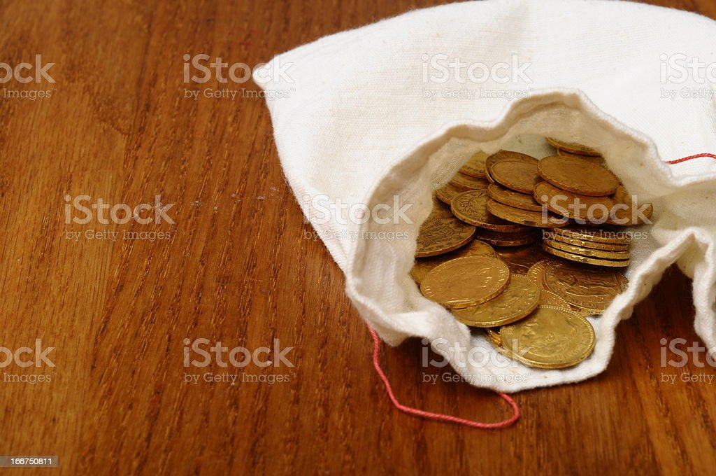 Gold french coin, Napoleon royalty-free stock photo