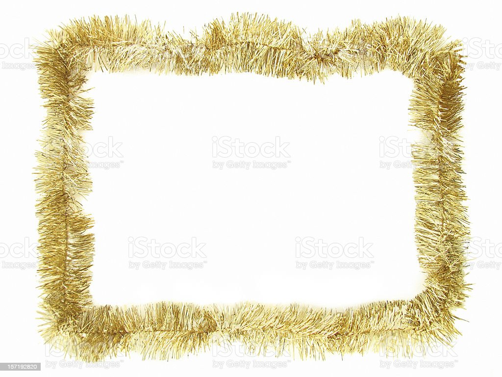 Gold Garland Border stock photo