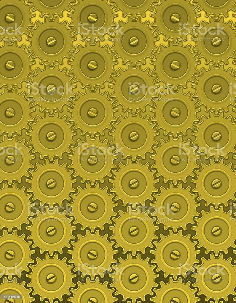 Gold Gears royalty-free stock photo