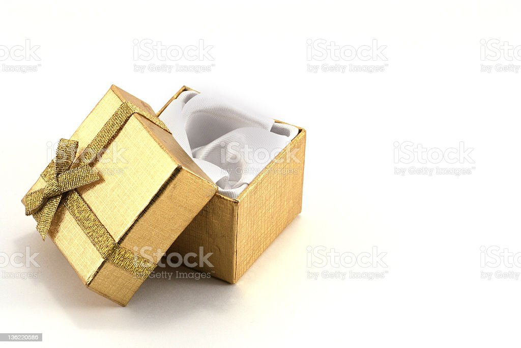 Gold gift stock photo