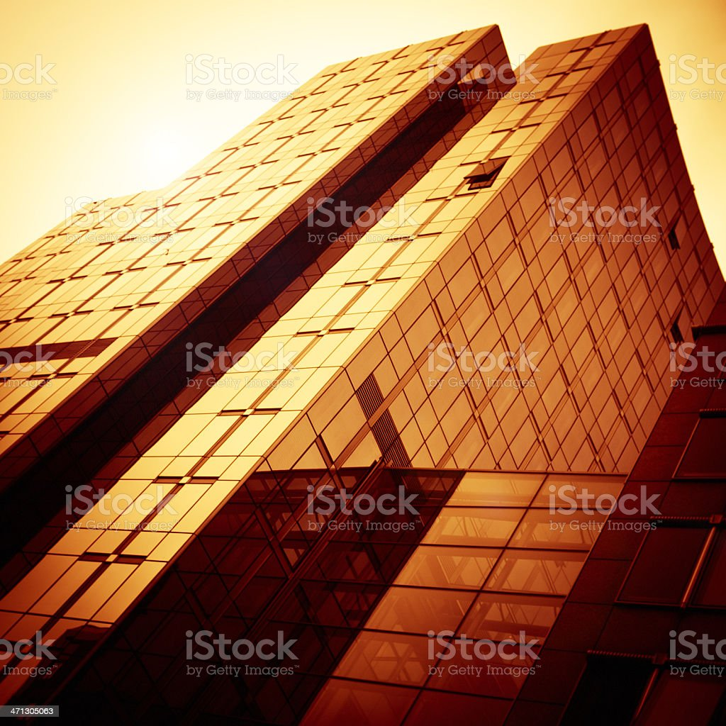 Gold glass Contemporary building architecture royalty-free stock photo