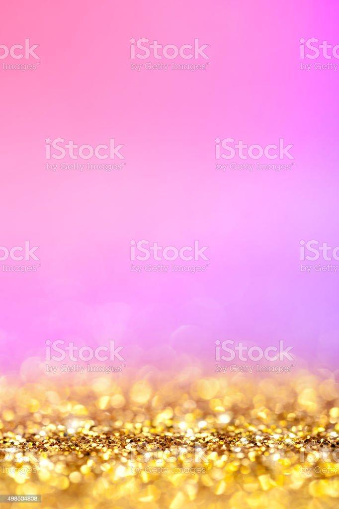 Sfondo Glitter Oro E Rosa Fotografie Stock E Altre Immagini Di