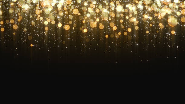 gold glitter background - stars imagens e fotografias de stock