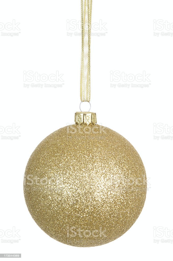 Gold Glitter Bauble (XL) royalty-free stock photo