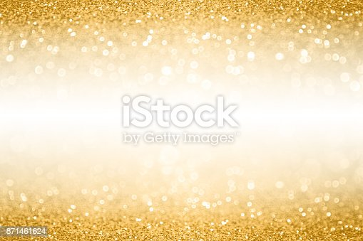 istock Gold Glitter Border Banner Background For Anniversary, Christmas or Birthday 871461624