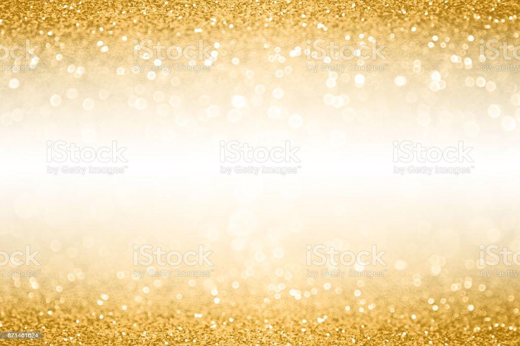 Gold-Glitter Rand Banner Hintergrund für Geburtstag, Weihnachten oder Geburtstag – Foto