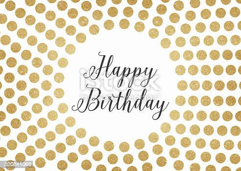 istock Gold glitter happy birthday background 520841068