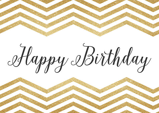 gold glitter happy birthday background - happy birthday banner stock photos and pictures