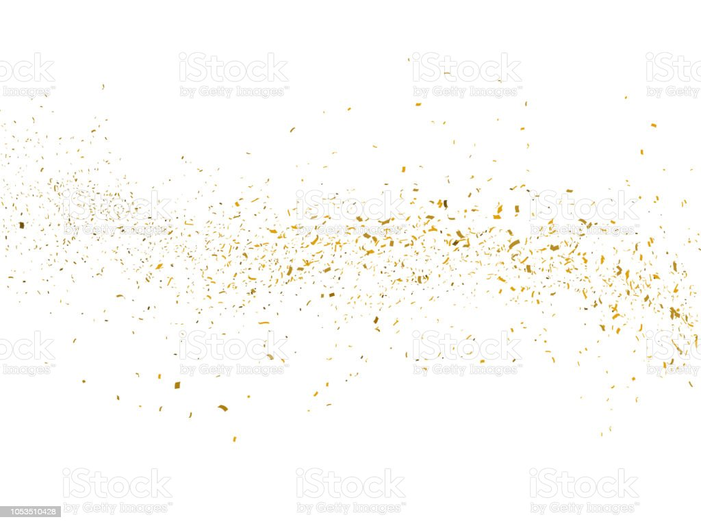 Gold glitter particles background - foto stock