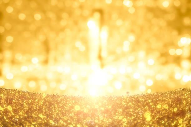 Gold-Glitter-Partikel-Hintergrund – Foto