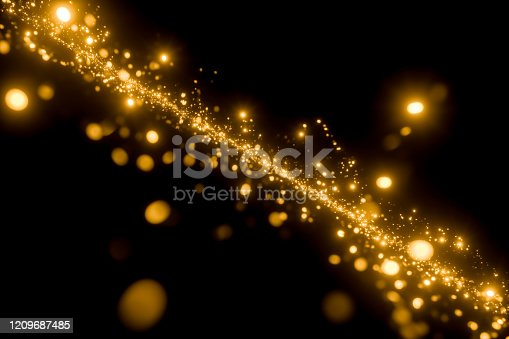 Gold Colored, Particle, Confetti, Backgrounds