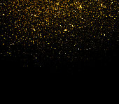 Gold glitter particles background